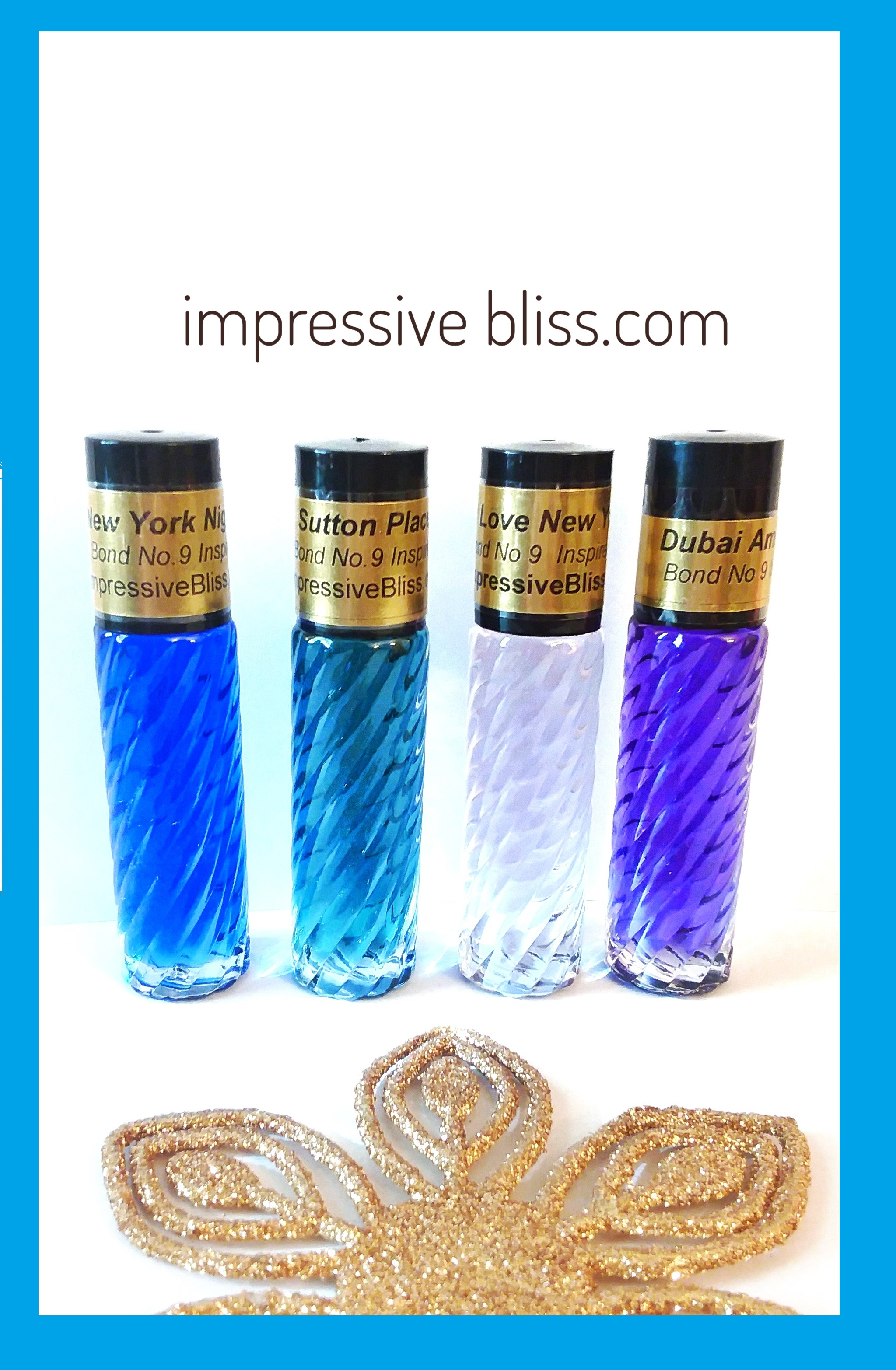impressive Bliss swirl Perfume oil bottle 1