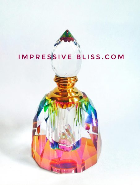 Taj Mahal Crystal Bottle